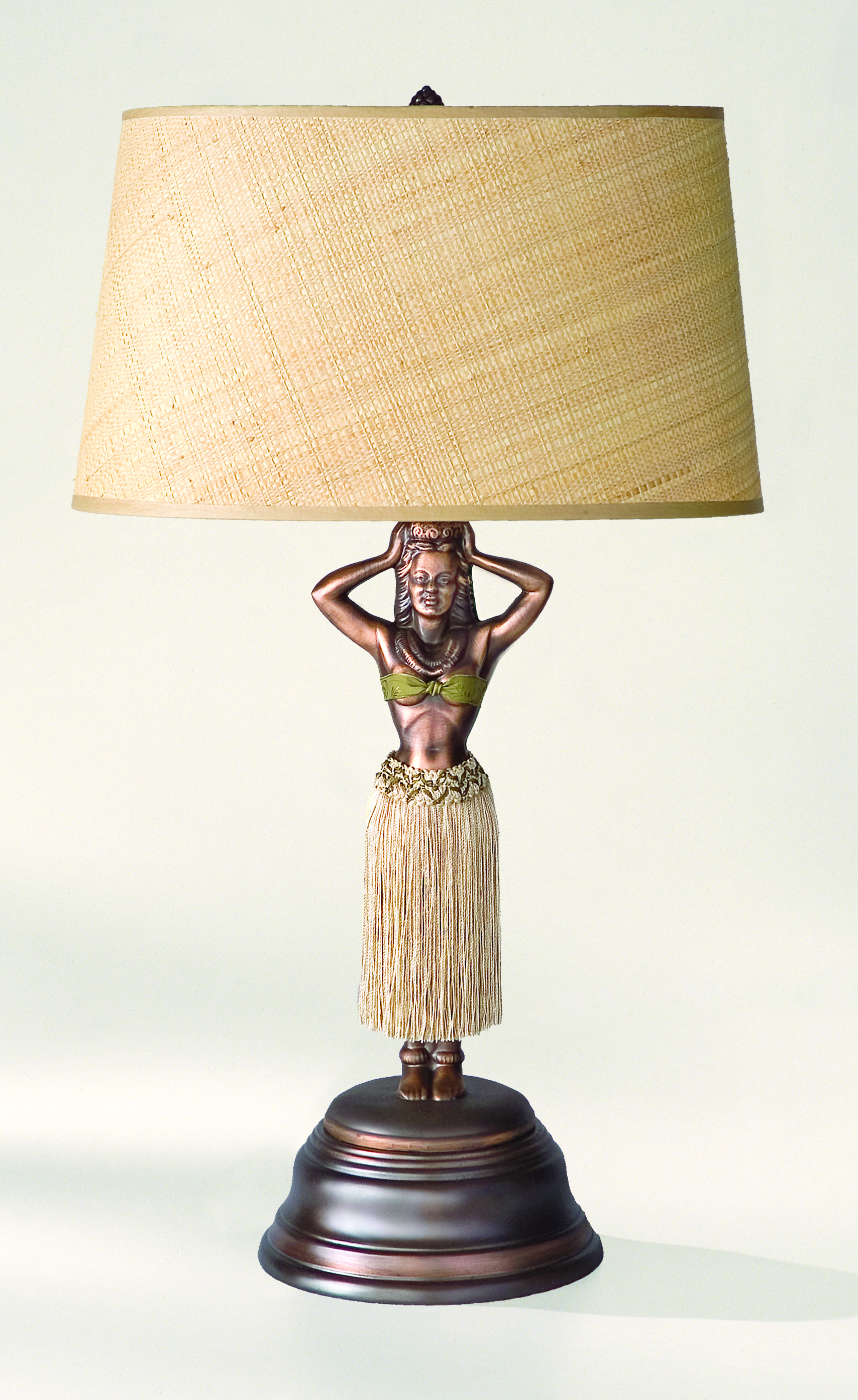 Hula girl lamps unique hawaiian hula girl motion lamp reproductions enlarge image geotapseo Gallery